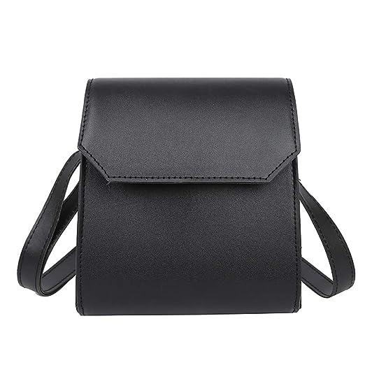 4f17aa3de21 Amazon.com: JJLIKER Women Leather Solid Cross Body Bag Fashion Ladies  Designer Adjustable Strap Waterproof Totes Simple Handbag Black: Clothing