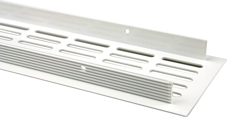 L/üftungsgitter Grille da/ération en aluminium anodis/é inox 100/x/400/mm