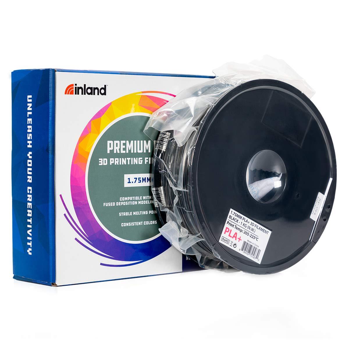 Inland Premium 175mm Pla 3d Printer Filament 1kg Stable Supply Spool 22 Lbs Industrial Scientific