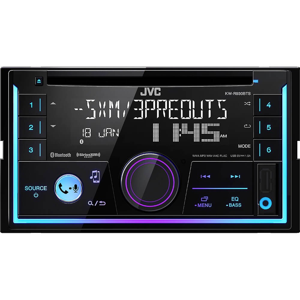 JVC KWR930 Double DIN CD Receiver with Bluetooth KW-R930BTS