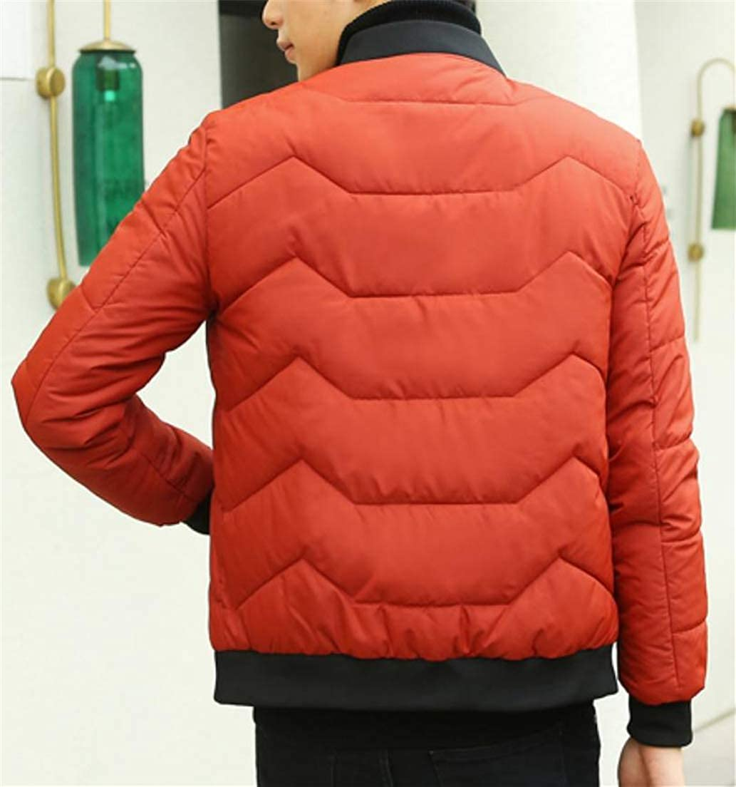 JSY Men Coat Puffer Outerwear Stylish Quilted Fall Winter Parkas Baseball Jacket