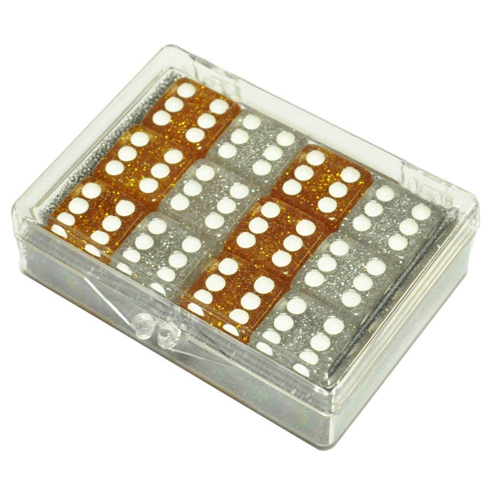 超美品の Set of of 12 6 Glitter Dice in 6 Silver 6 Gold in Acrylic Box B00BWRA9B0, バーズソウル:f5b114c7 --- hohpartnership-com.access.secure-ssl-servers.biz