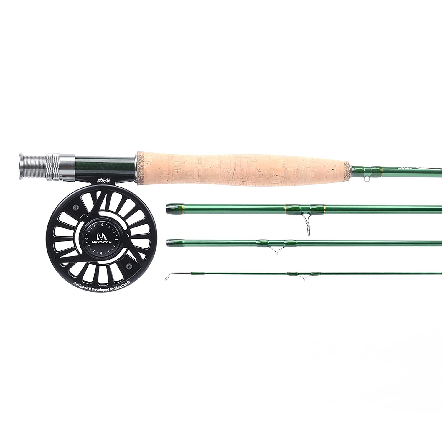 Maxcatch Premier Fly Fishing Rod with Avidフライリールとロッドケース: 3 / 4、5 / 6、7 / 8-weightロッドとリールコンボ B01NCIO589 8'6'' 4wt rod+3/4wt reel|Model02 Model02 8'6'' 4wt rod+3/4wt reel