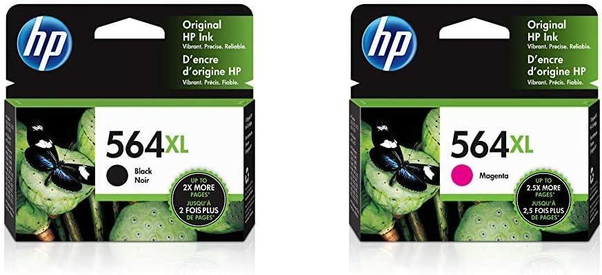 HP 564XL | Ink Cartridge | Black | CN684WN & 564XL | Ink Cartridge | Magenta | CB324WN