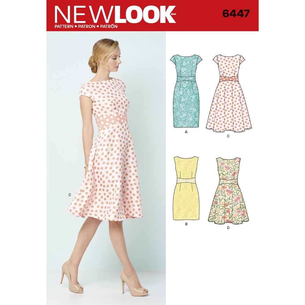 New Look Patterns Misses' Dresses A (8-10-12-14-16-18-20) 6447 Simplicity