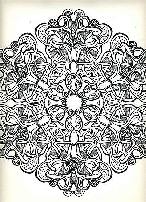 Psychedelic Mandalas XIX Saladin Lithograph 1967
