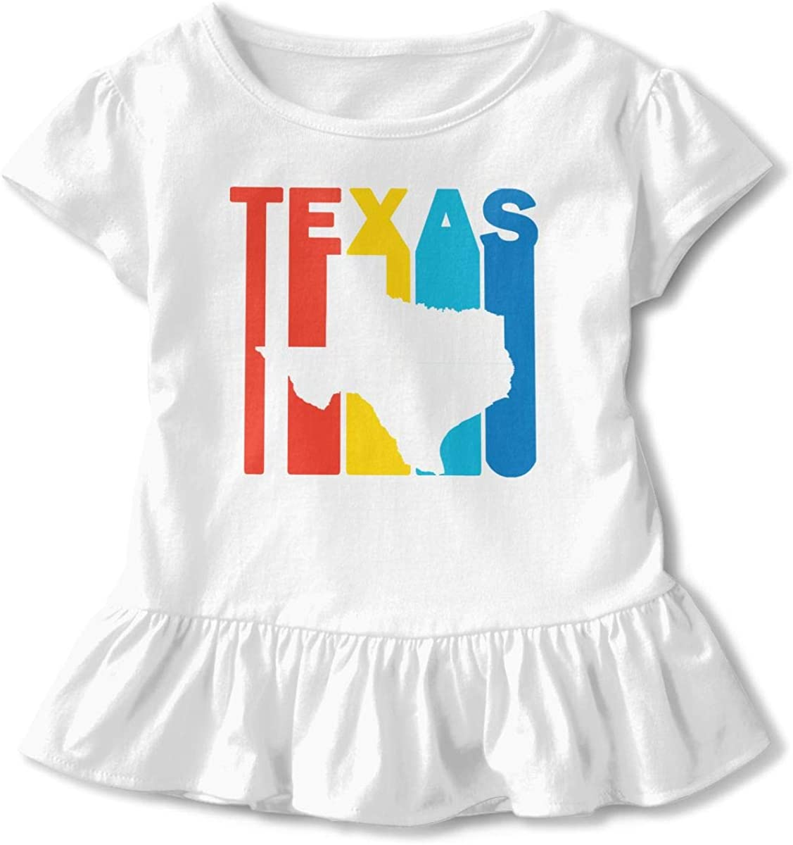 Retro Texas Kids Boys Girls Crewneck Short Sleeve Shirt T-Shirt for Toddlers