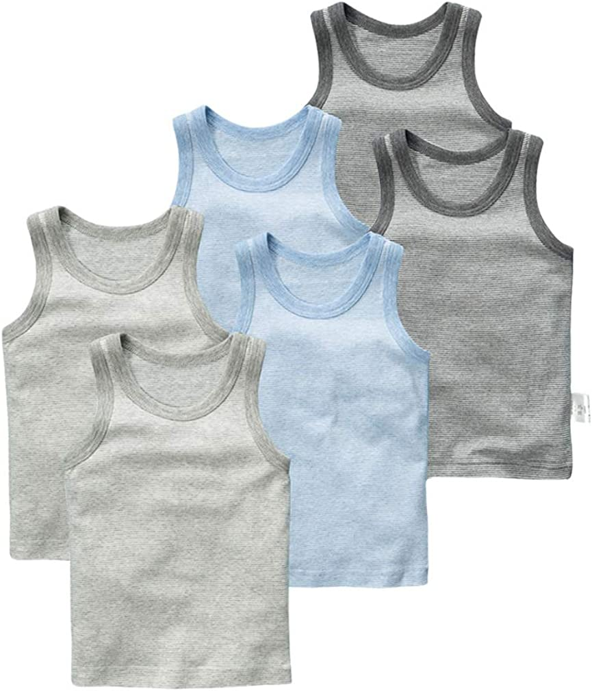 Coodebear Baby Boys Girls Infant Toddlers 100/% Cotton Undershirt Tees Tank 1-7 Years