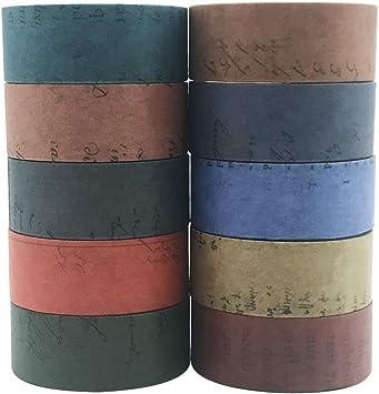 10 Rolls Vintage Washi Tape Set EnYan Japanese Masking Decorative Tapes for DIY Crafts and Arts Bullet Journal Scrapbooking Adhesive Planners