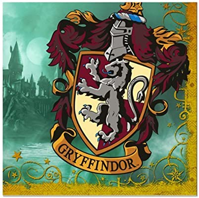 Harry Potter Gryffindor Crest Party Supply Beverage Napkins 5
