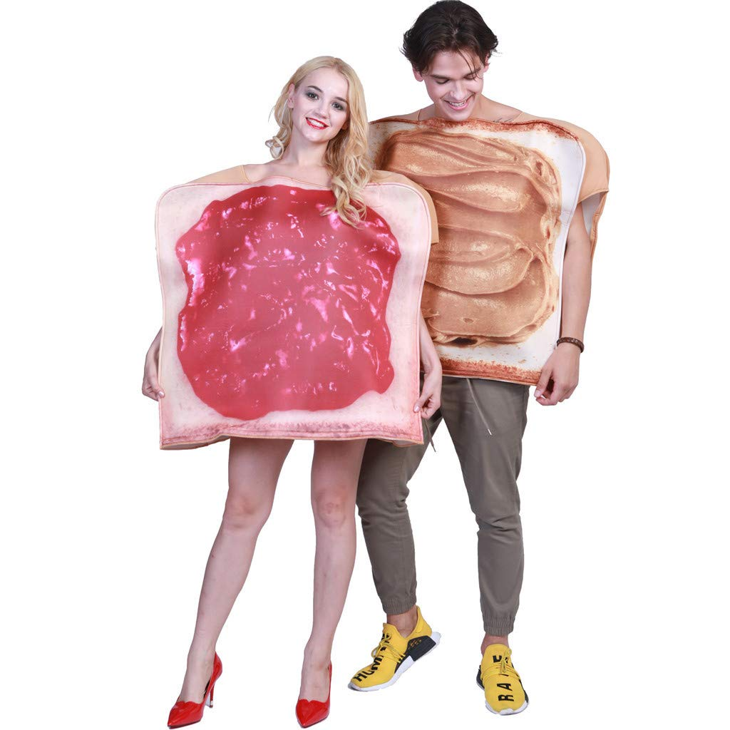 Cosplay Costume,Meetsunshine 2PC Adult Halloween Stage Costume Spoof Breakfast Expression Cosplay Clothes Props (B) by Meetsunshine Halloween
