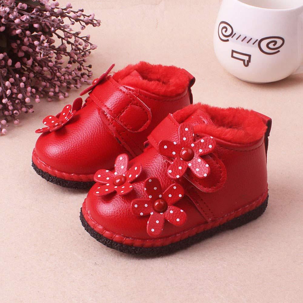 MCYs Baby Kleinkind M/ädchen Jungen Blumen Winter Warme Schuhe Schneestiefel Turnschuhe Winterschuhe Boots
