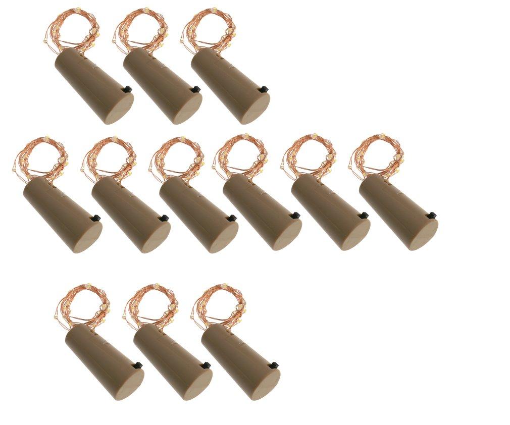 12 x 20 LED Guirlandes bande lumière liège Bouchon de bouteille décor mariage 1M
