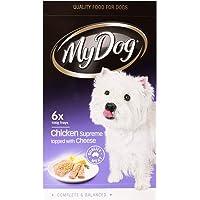 MY DOG Chicken & Cheese Dog Wet Food, Adult, 6 x 100g