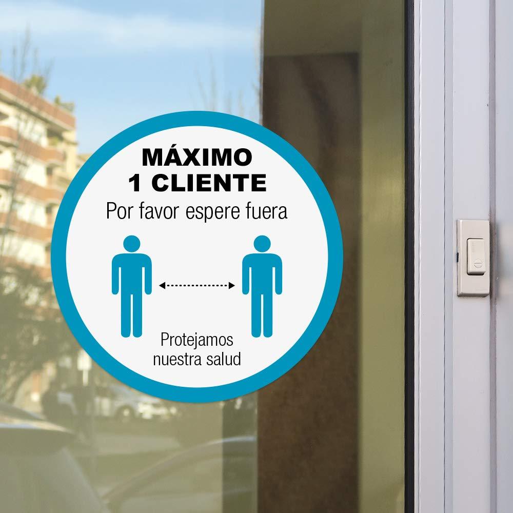 Se/ñal control de aforo clientes para tiendas Por favor espere fuera M/áximo 1 cliente