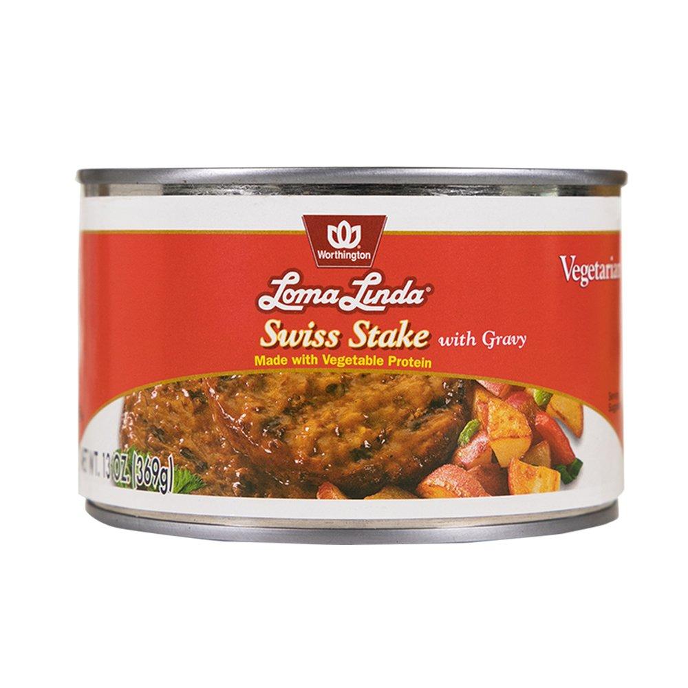 Loma Linda - Plant-Based - Swiss Stake with Gravy (13 oz.) - Kosher