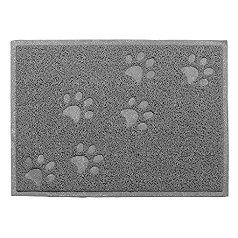 Mascota plato cena cuenco Mat Manta potpor paw-shaped relieve grass-like material (
