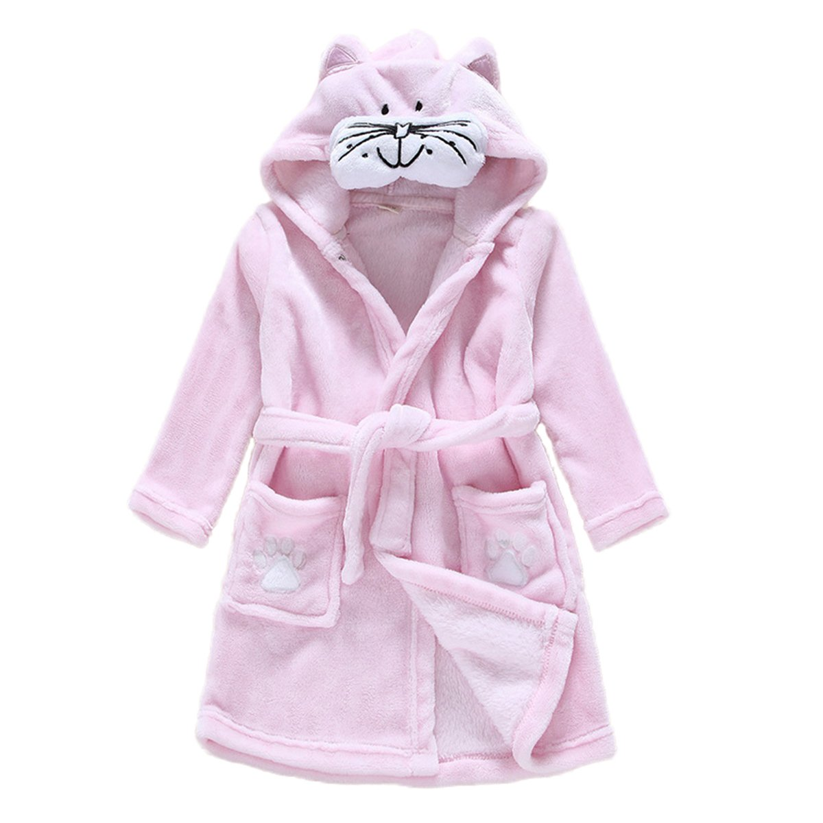 84a5965b24 JUNG KOOK Toddler Baby Boys Girls Cartoon Bathrobe Flannel Robe Winter  Night-Robe product image