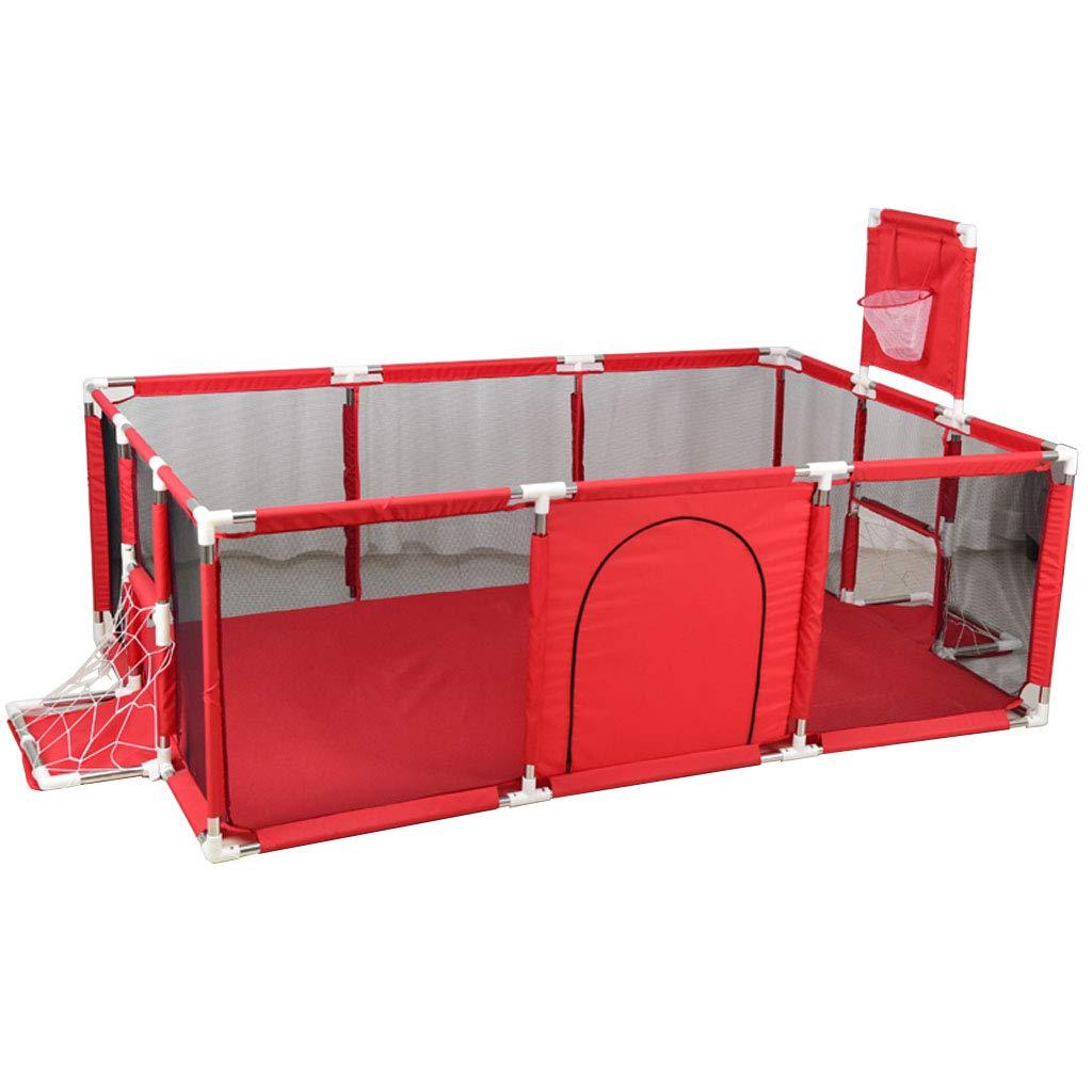 235x129x66cm HYE-PLAYPEN corralito de beb/é Infantil Parque de la Canasta Dise/ño Lavable Tela Oxford Beb/é Beb/é Parque Infantil Valla Protectora Ensamblado Casa Playard Rojo