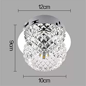 T-Tonranp Cristal LED Luces de Techo Diseño de Luz Corredor ...