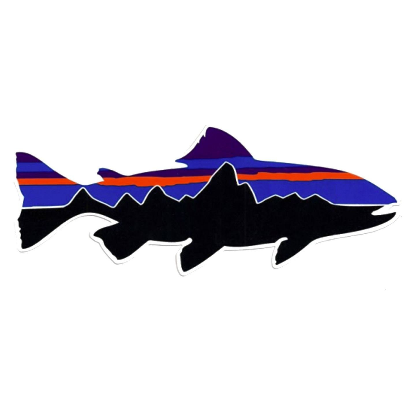 7x2 Percichthys trucha Patagonia Monte Fitz Roy Fish Perca Trucha - funny stickers travel adventure awaits wanderlust symbol window mountain motorcycle biker car Made and shipped in USA ExpressDecor