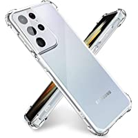 TERSELY Clear Case for Samsung Galaxy S21 Ultra 5G, Soft Slim Fit Crystal TPU Bumper case with Shockproof Protective…