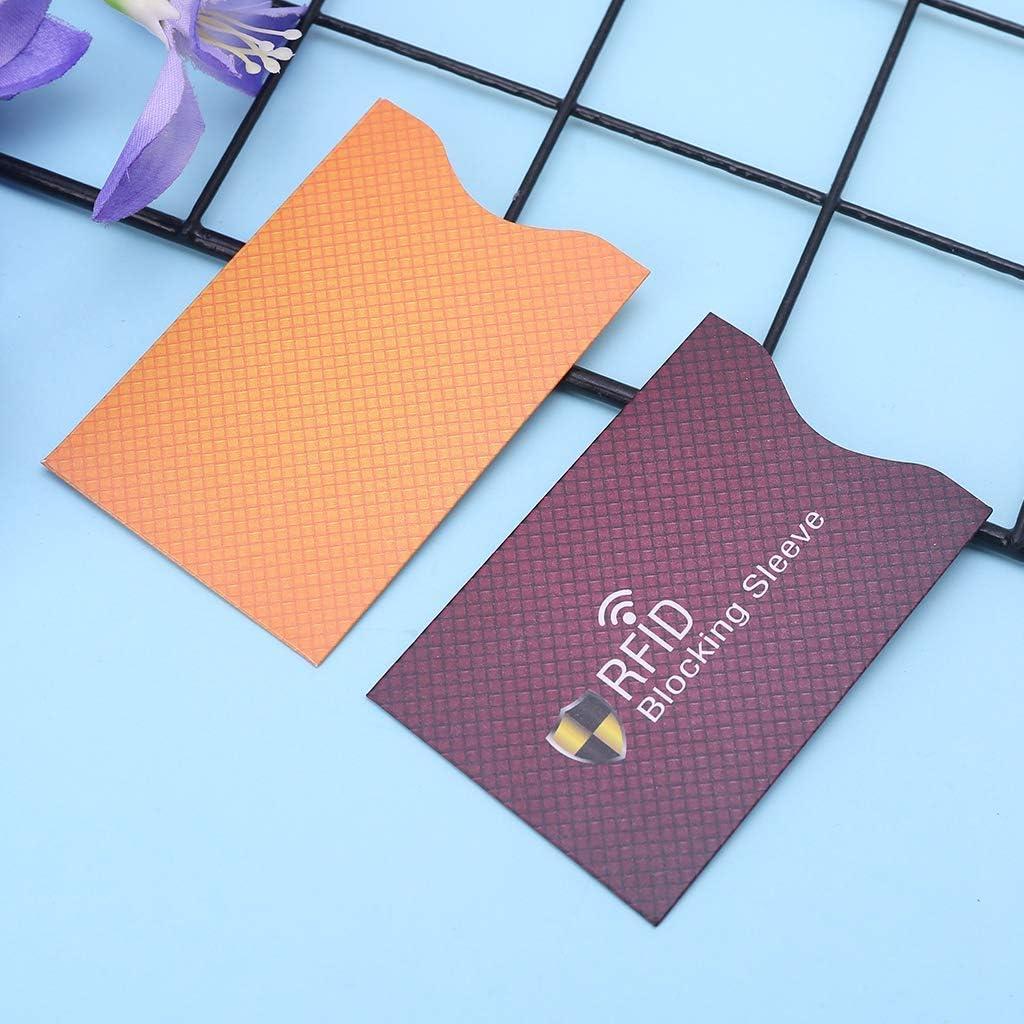 1 pi/èce SimpleLife Secure Sleeve Anti Theft pour Les Manchons de Blocage RFID ID de Carte de d/ébit et Protecteur de Passeport pour Votre Portefeuille ou Votre Sac /à Main