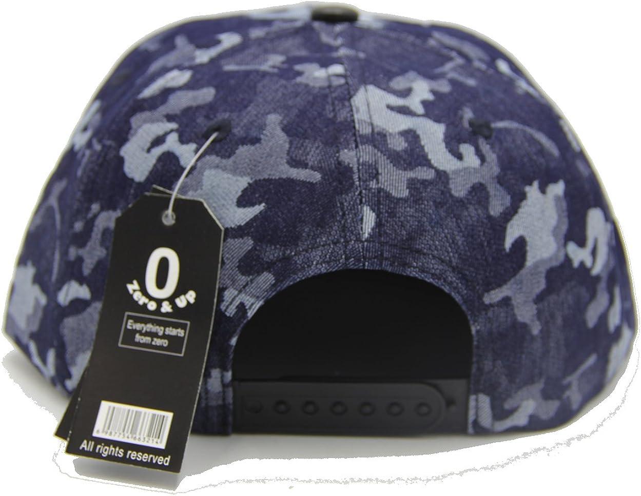 Zero /& Up Blue Camo  Boys Baseball Cap Snapback Hat one Size Fits Most