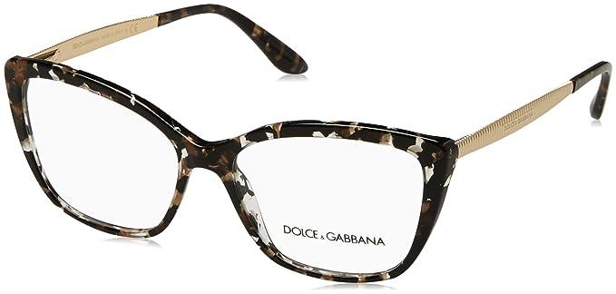 cba90e5845 Amazon.com: Dolce&Gabbana DG3280 Eyeglass Frames 911-54 - Cube Black ...