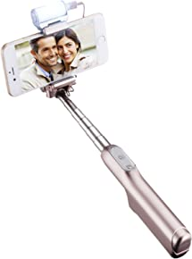 Selfie Stick with Fill Light, Mpow Bluetooth Extendable Selfie Sticks with Built-in Remote Shutter, 270 Degree Adjustable Head, Flashlight, Mirror, Fits for iPhone 6s/6/6 Plus, LG G5, Moto X/G