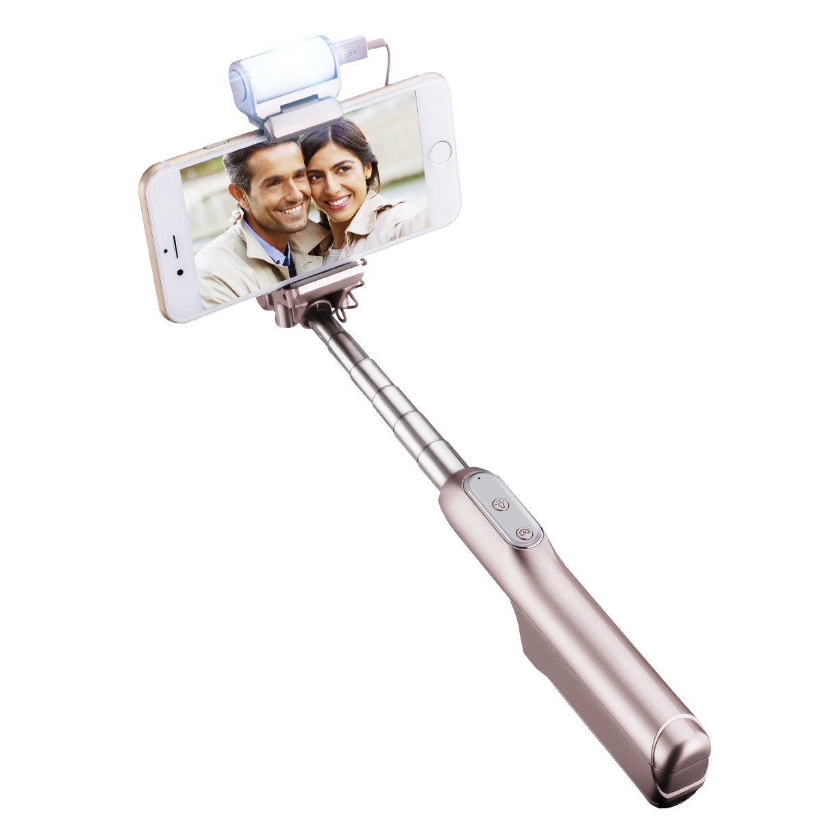 Palo Selfie Bluetooth Mpow con Flash Led Selfie Sticks Cabeza Ajustable de