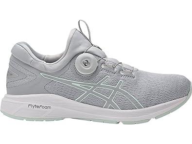 ASICS Womens Dynamis Running Shoe (7, Mid Grey/Glacier Grey/White)
