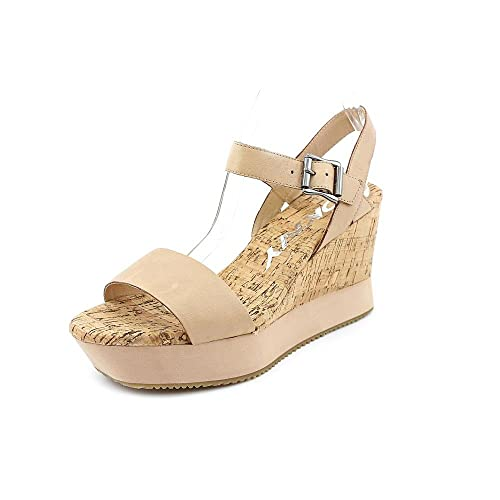 6185094714f9 DKNY Donna Karan Women s Ione Natural Fashion Wedge Sandals Shoes Sz  8