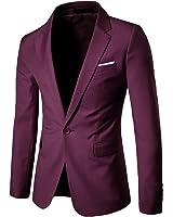Cloudstyle Men's Suit Jacket One Button Slim Fit Sport Coat Business Daily Blazer