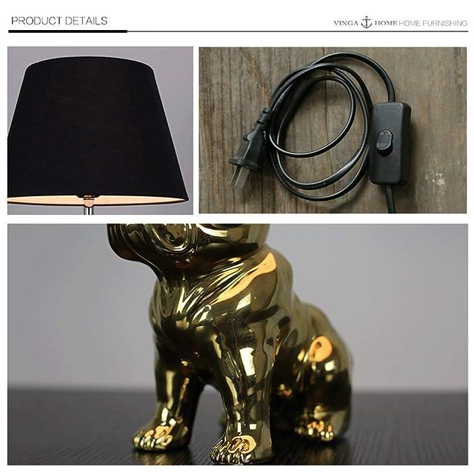 Bulldog francés Lámpara de mesa Personalidad moderna Sala de ...