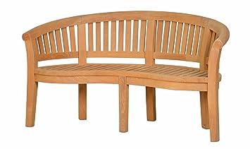 Sitzbank Holz Mit Lehne amazon de bananenbank varadero aus teakholz 160x74cm