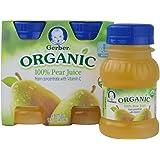 Gerber Organic Pear Juice, 4 Fluid Ounce -- 4 per case.