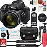 Beach Camera Nikon COOLPIX P900 16MP 83x Super Zoom 4k Wi-Fi GPS Digital Camera + 64GB Memory & Accessory Bundle