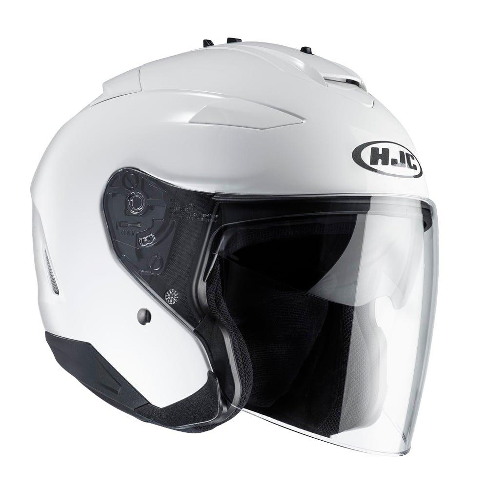 HJC IS-33 II Open Face Helmet With Visor - White XS - 54cm 8804269857892