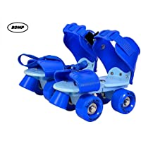 BDMP Sterling Adjustable Roller Skates for Kids Junior Girls Boys Outdoor Sports Games Adjustable Size 16 CMT. to 21 CMT (Blue)
