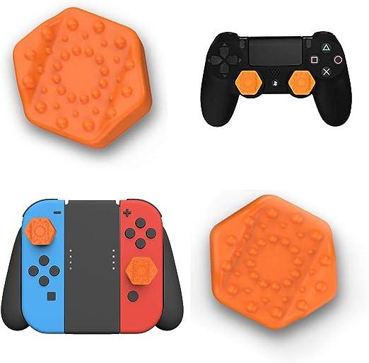 ANDERK Joystick Thumbstick Caps - Accesorios de controlador de juego, Accesorios Esenciales para el Juego mando PS4 Switch [playstation_4] [Nintendo Switch]: Amazon.es: Videojuegos