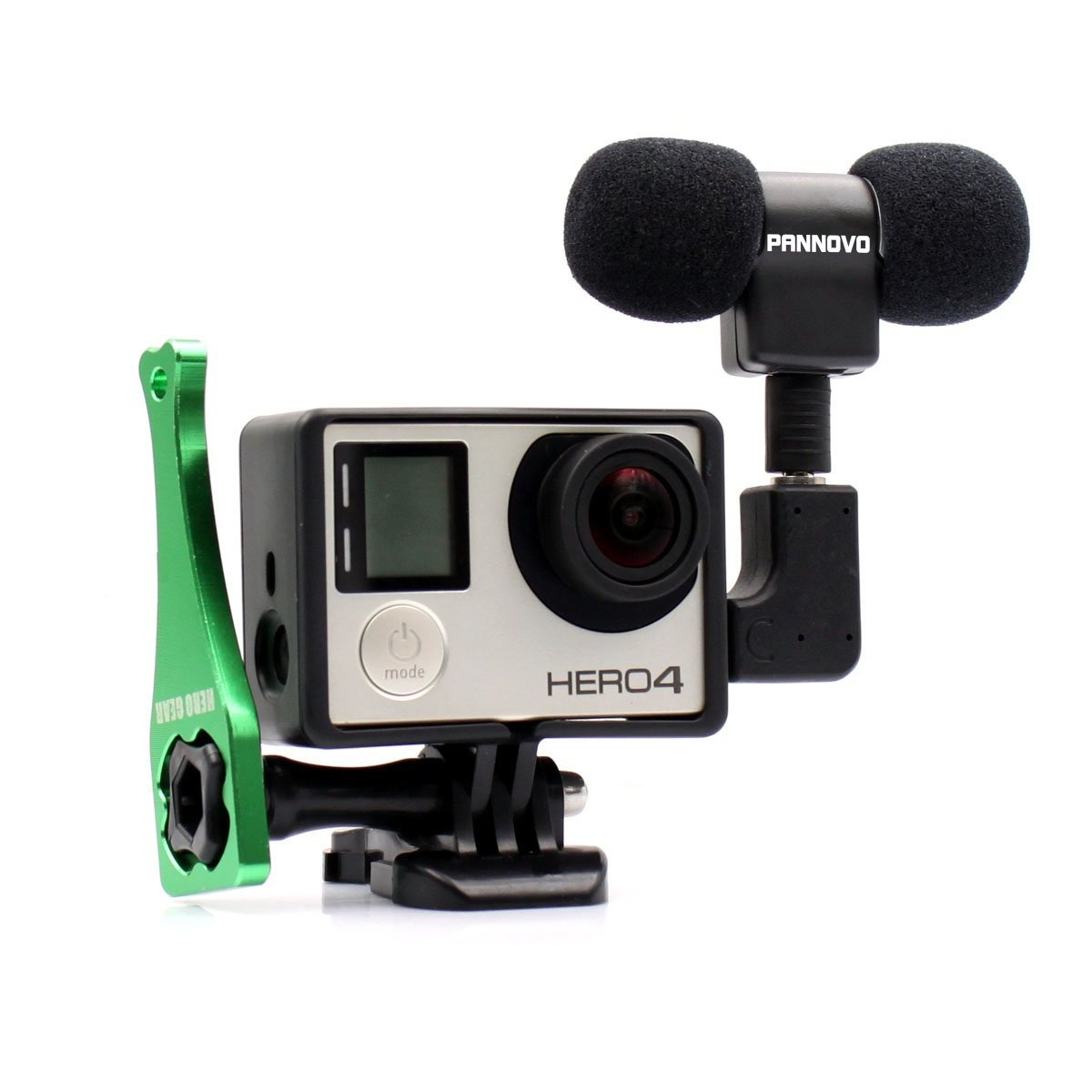 Microphone for Gopro, PANNOVO 3.5mm mini Mic microphone Adapter accessories for Gopro hero 3 3+ 4 and Digital Cameras