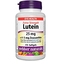 Webber Naturals Lutein 25 mg with Zeaxanthin 5 mg for Eye Health 175 Softgels