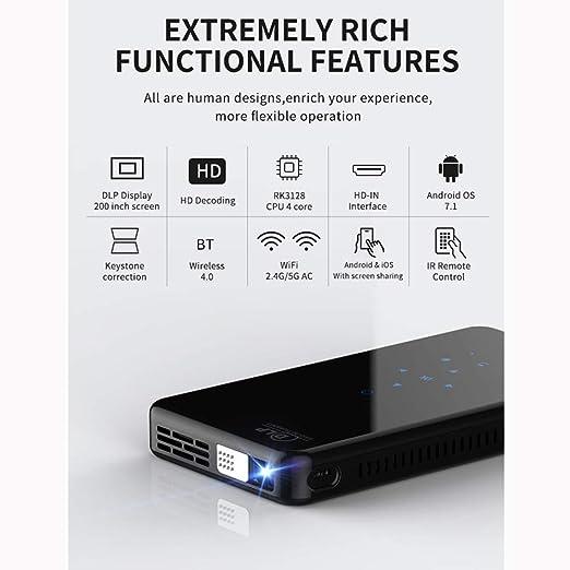Link Co Mini proyector de Pico Soporte Bluetooth 4.1 Altavoz de ...