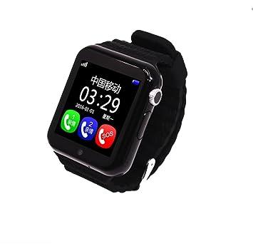 SNHWARE Relojes Inteligentes Multi Language Relojes De Posicionamiento Para Niños Tarjetas Telefónicas Waterproof,Black