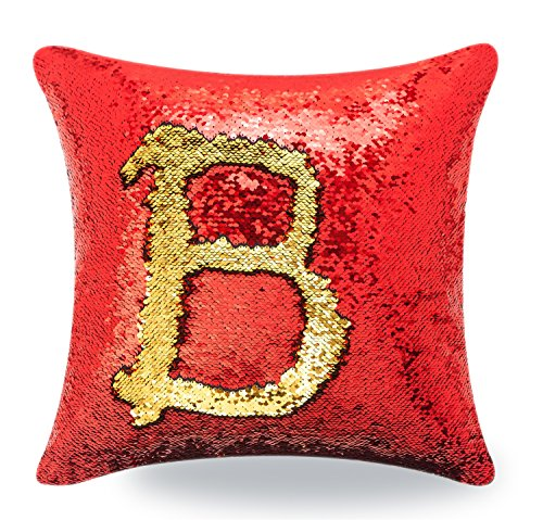 BOOBEI Two Colors Reversible Sequins Mermaid Pillow Cases 16