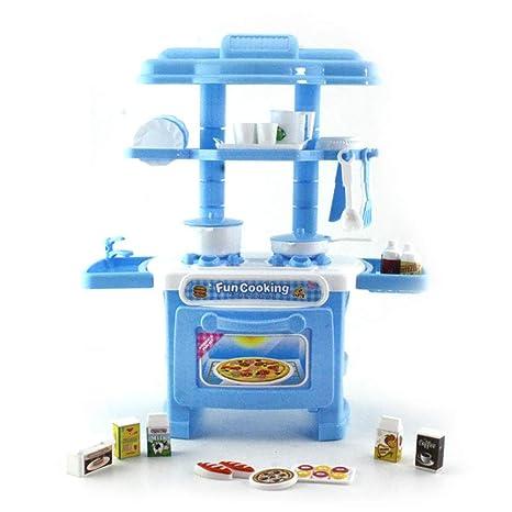 Hilai Juguete para niños Juguete Cocina Mesa para Cubiertos Juguete Simulación Juego de Mesa para cocinar