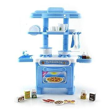 Hilai Juguete para niños Juguete Cocina Mesa para Cubiertos Juguete Simulación Juego de Mesa para cocinar (como Muestra la Imagen) 1Set