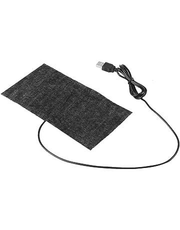 Zerone 5V USB Calefacción Pad Mat Fibra De Carbono Alfombrilla De Ratón Manta Caliente 20 ×