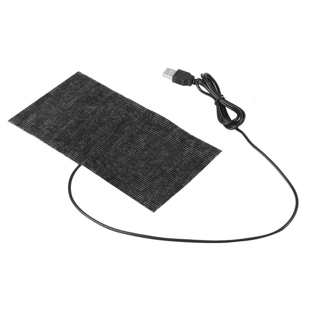 1 PCS Black 5V USB Heating Pad Mat Carbon Fiber Mouse Pad Warm Blanket 20×10cm
